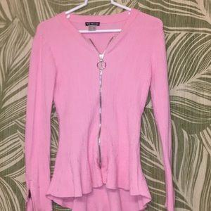Pink zip shirt